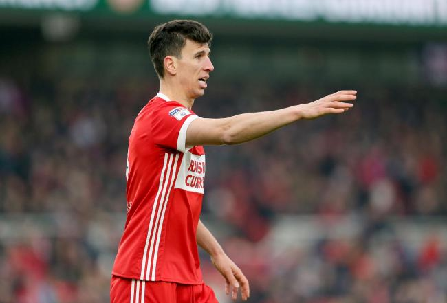 Middlesbrough's Daniel Ayala gestures Picture: PA