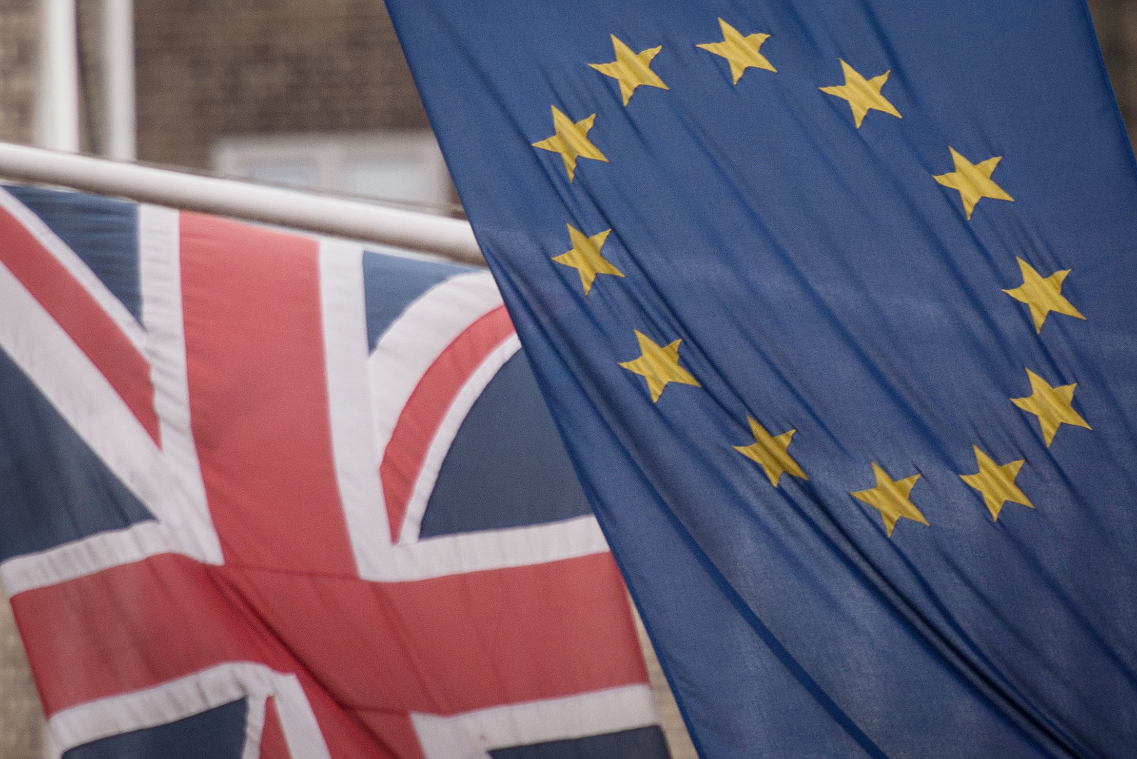 The EU and Union flags. Picture: Stefan Rousseau/PA Wire