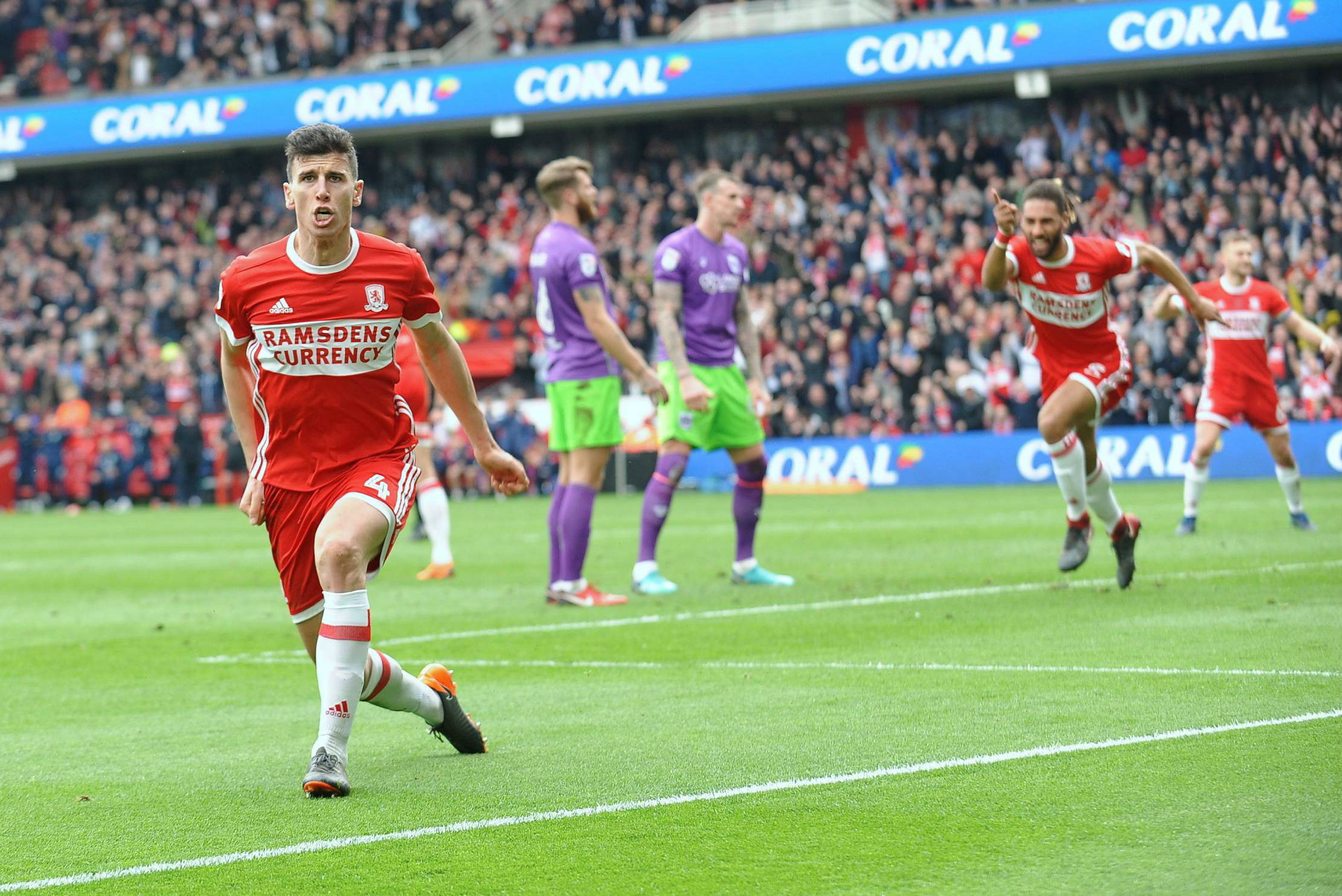 WINNER: Daniel Ayala celebrates the second and crucial goal. Pictures: NORTH NEWS