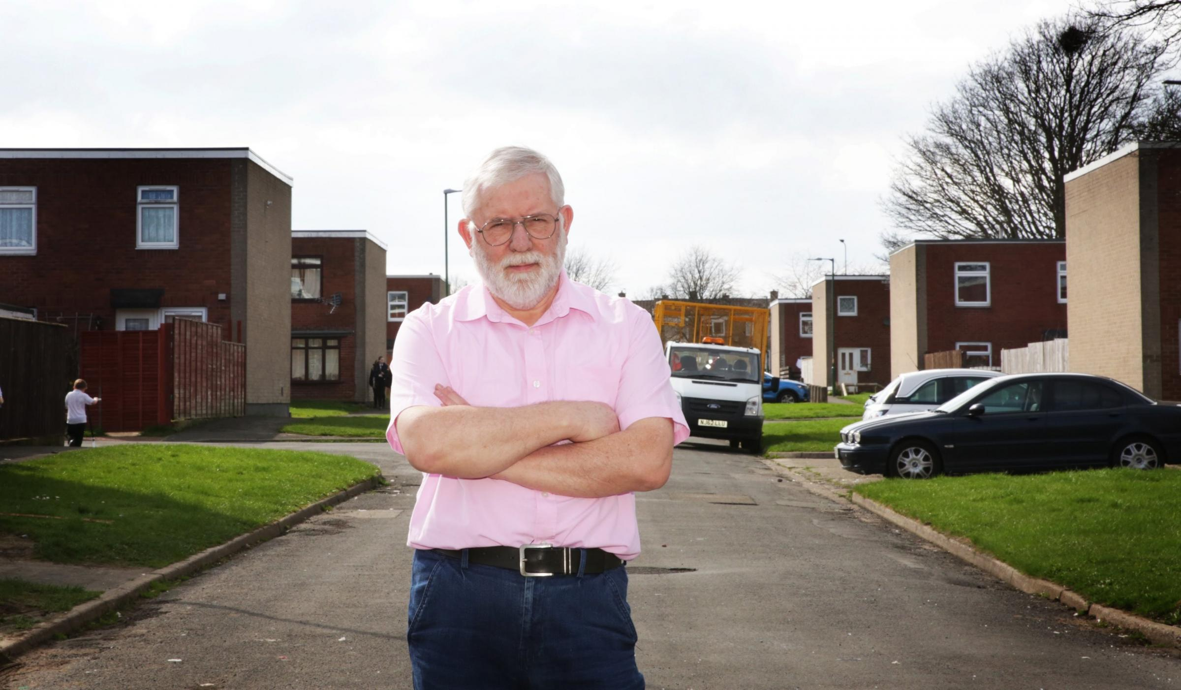 Livin tenant Derick Sutton, 72, of Kirkstone Place, says he and his wife are filled with dread at the prospect of having to leave their home Picture: SARAH CALDECOTT