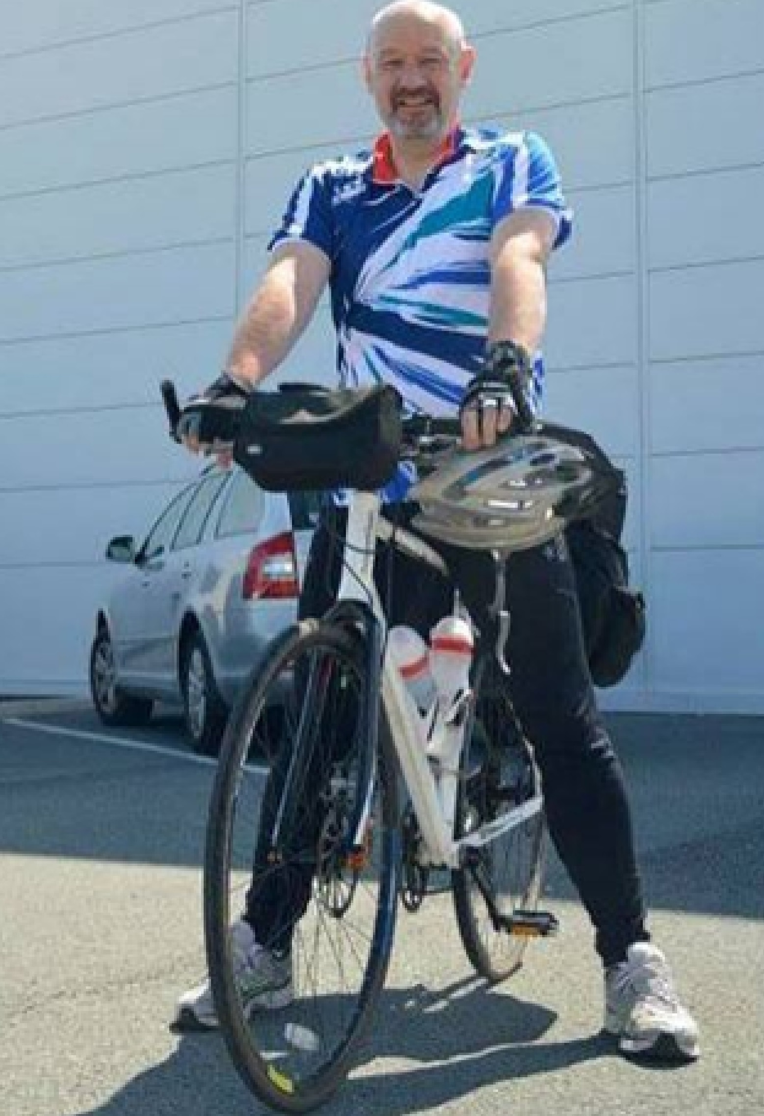 RIDE: Stuart Stephenson, from Northallerton, is cycling around all 20 Premier League grounds to raise money for Cancer Research