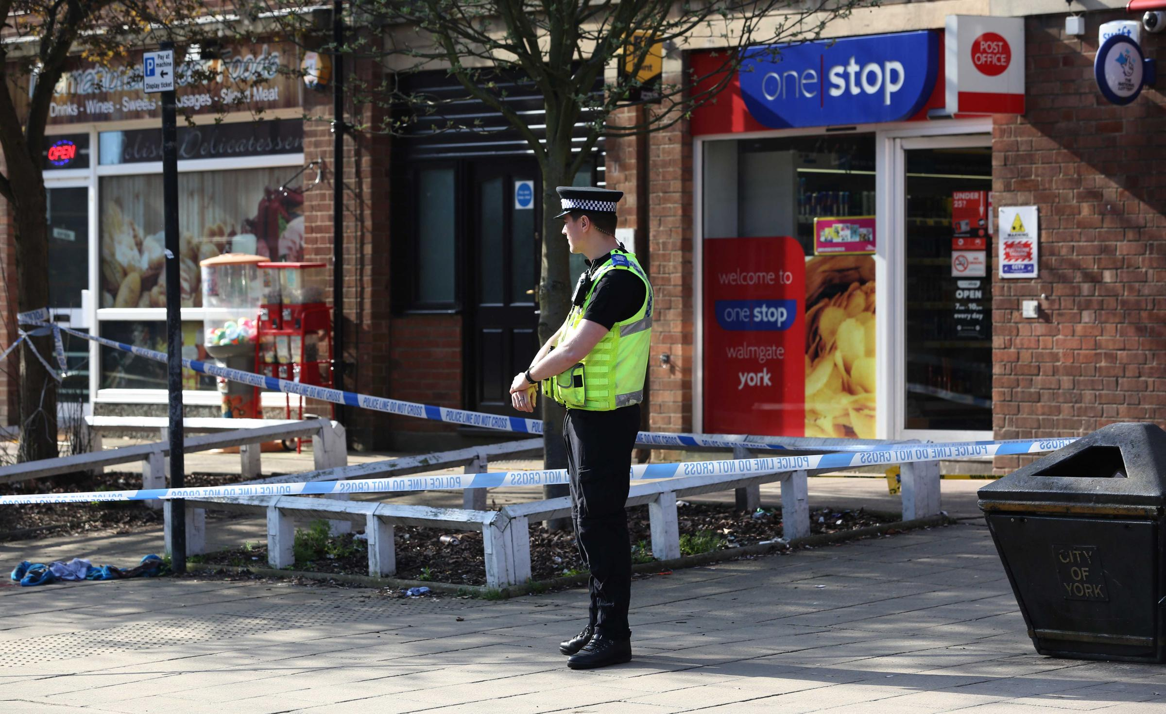 ATTACK: Part of York's Walmgate has been cordoned off following a stabbing on Wednesday evening. Picture: York Press