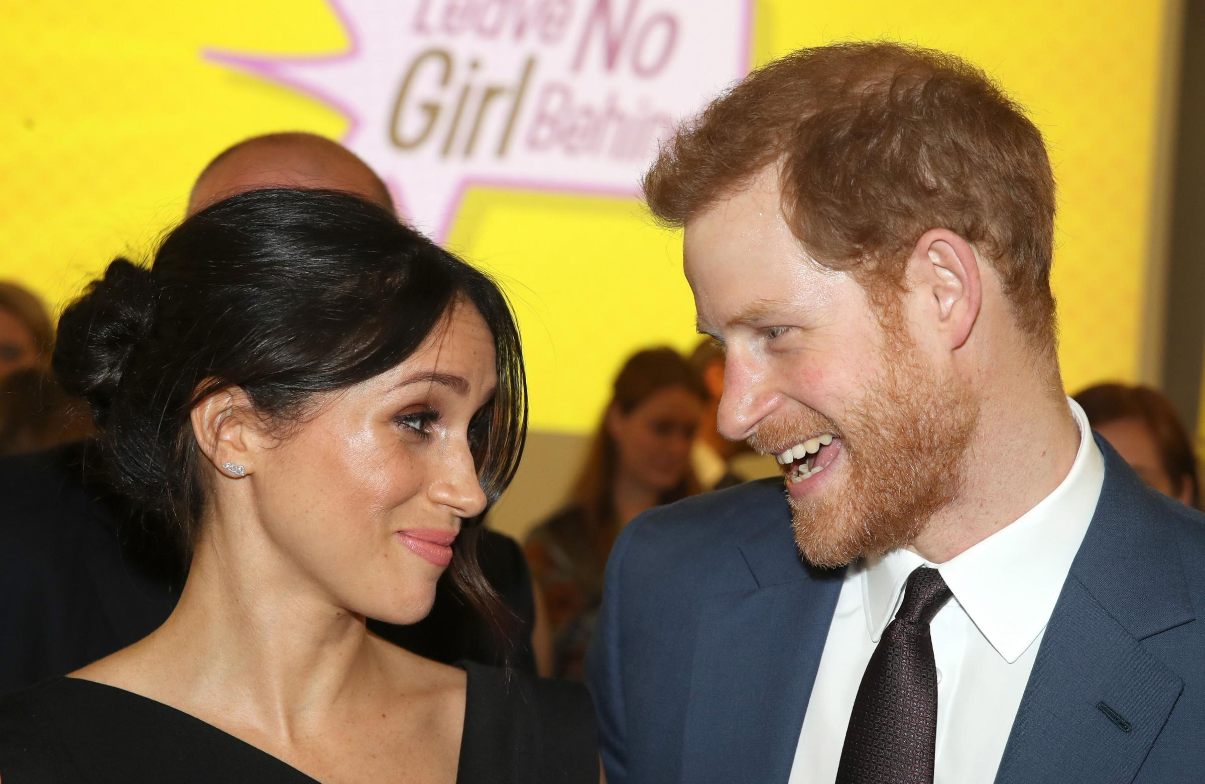 Prince Harry and Meghan Markle attend a women's empowerment reception at the Royal Aeronautical Society in London during the Commonwealth Heads of Government Meeting. Picture: Chris Jackson/PA Wire