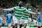 Celtic's Odsonne Edouard scored twice in the title-clinching win over Rangers (Jane Barlow/PA)
