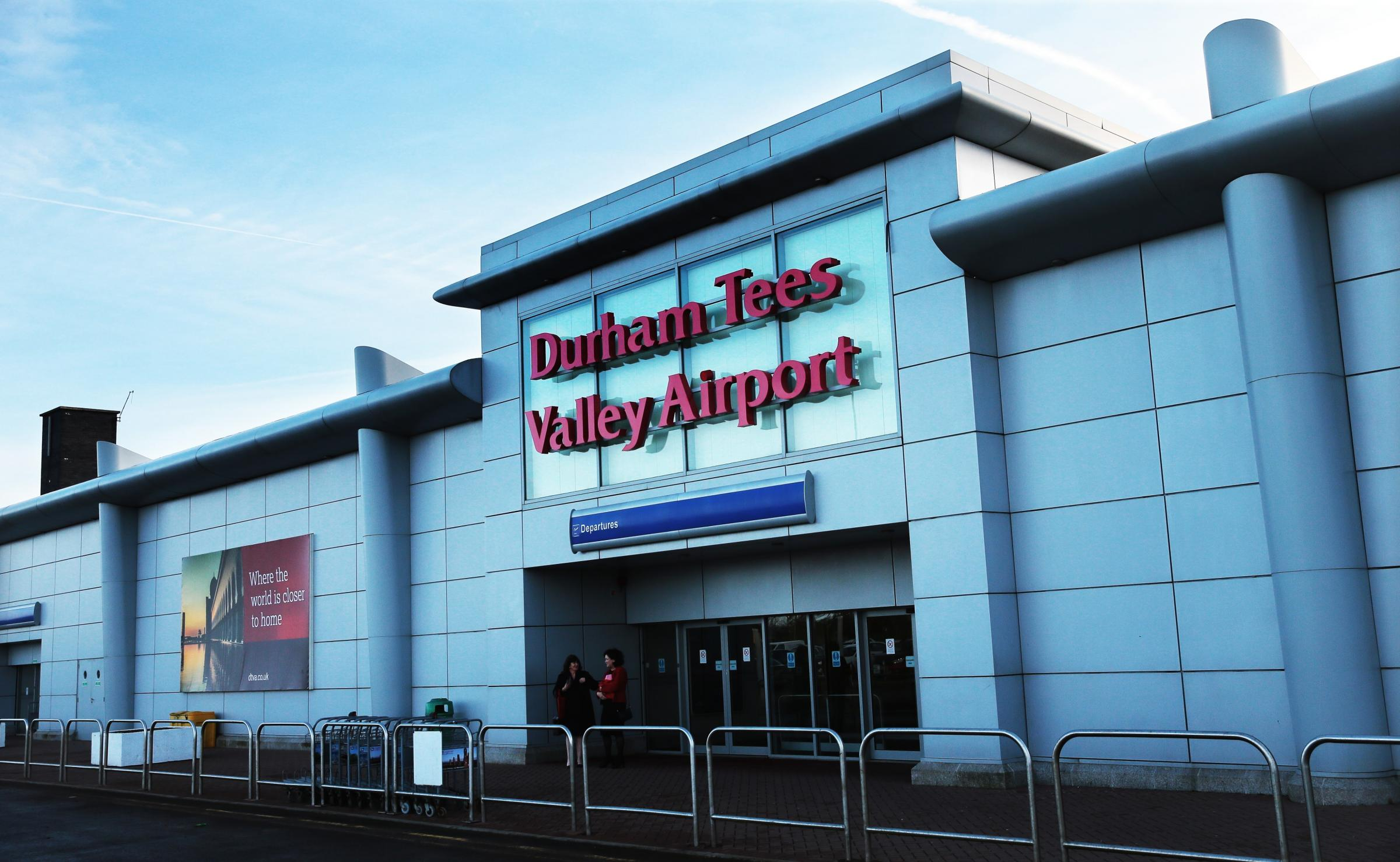 Name poll is part of his £40m plan to acquire Peel Group's 89 per cent shareholding in Durham Tees Valley Airport