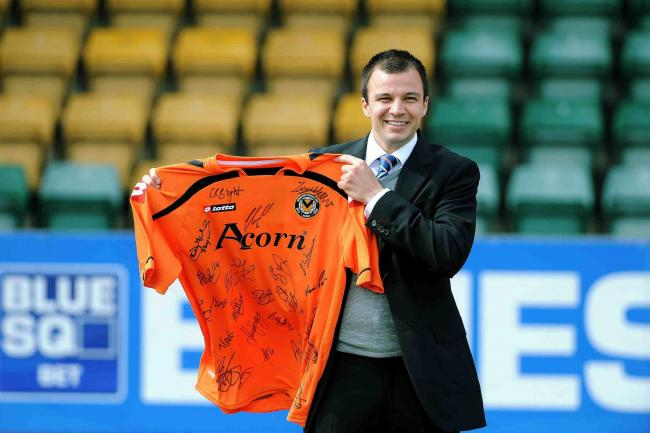 IN THE RUNNING: Anthony Hudson, a former manager of Newport County, is in the running to be Sunderland's next boss