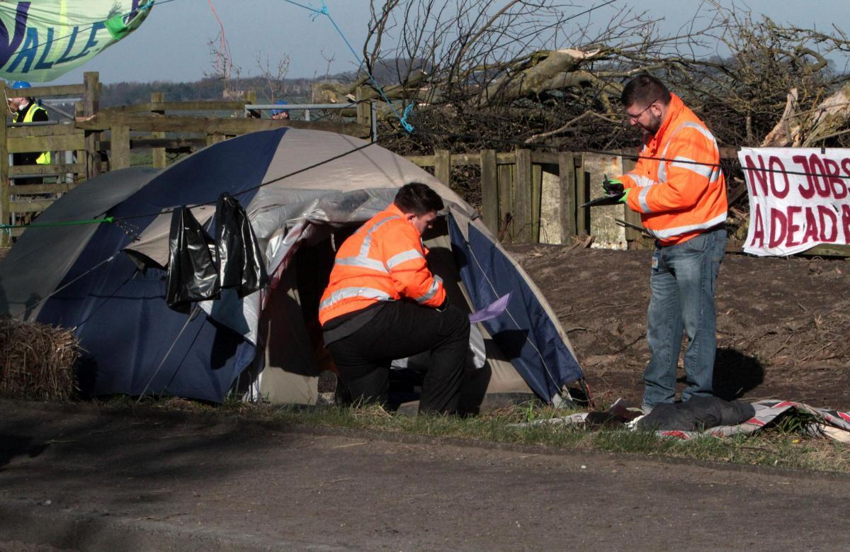PROTEST: The camp at Dipton, near Consett