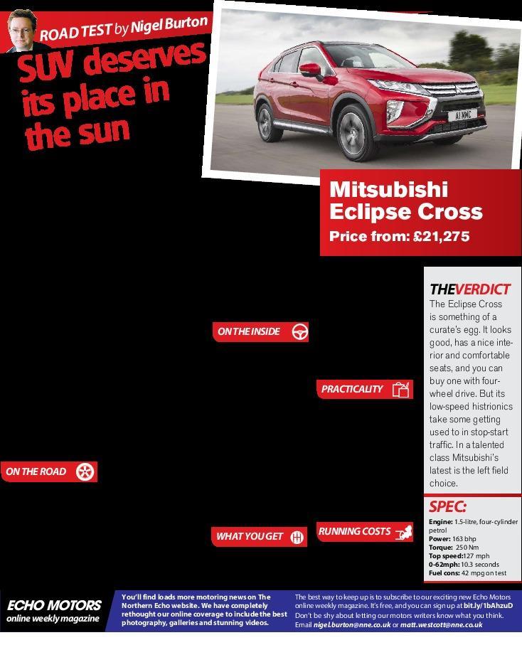 Tested: Mitsubishi Eclipse Cross | The Northern Echo