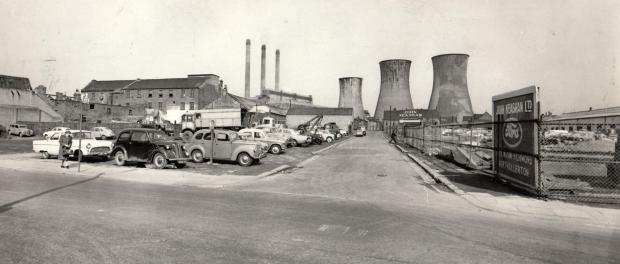 The Northern Echo: POWER STATION: Brunswick Street looking east towards the power station on an undated mid 1960s picture. John Neasham has acquired the land on the right where he would build his large Ford dealership. His garage came down about ten years ago, and once agai
