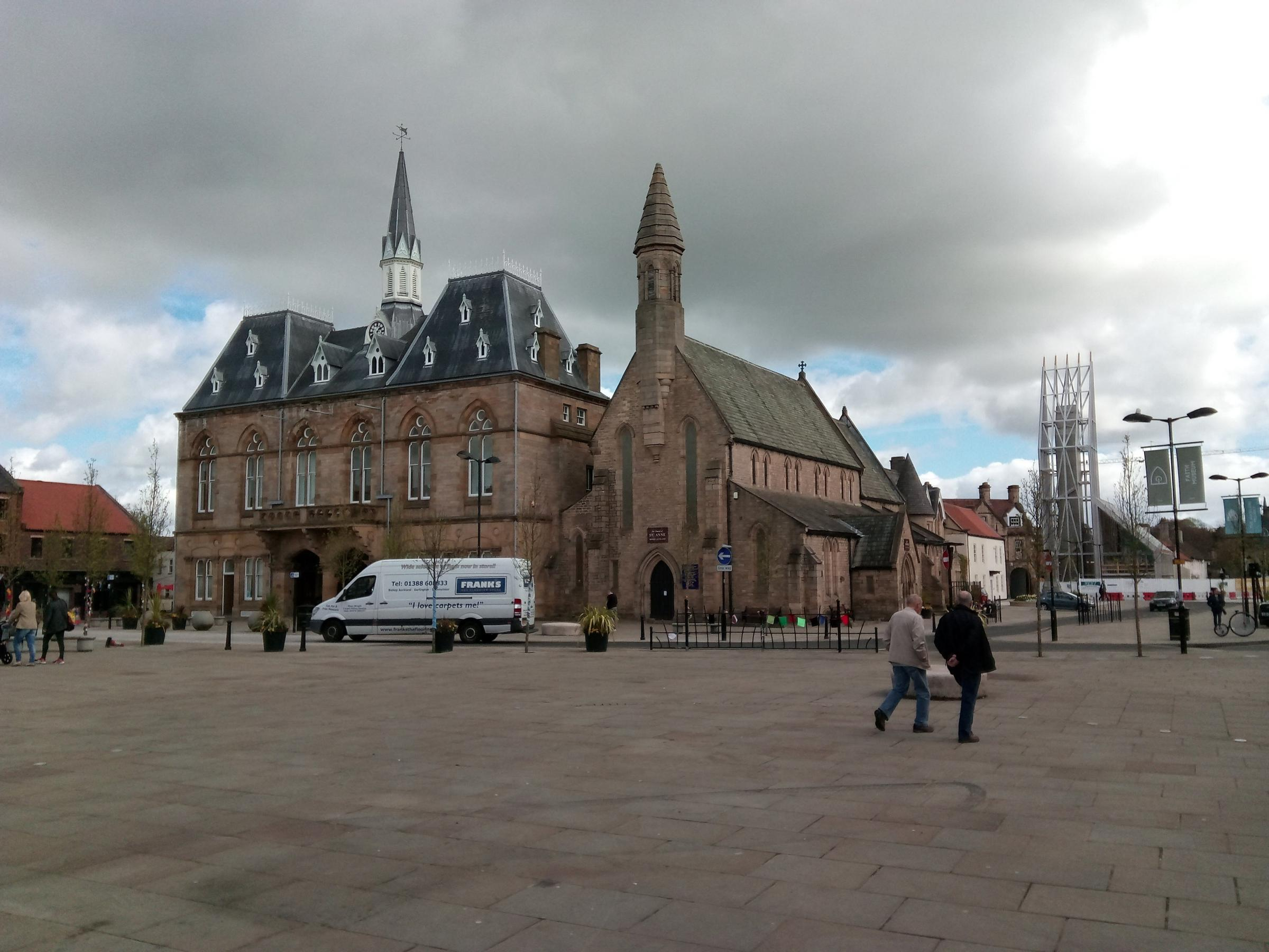 RESTORATION: Bishop Auckland market place Picture: DURHAM COUNTY COUNCIL