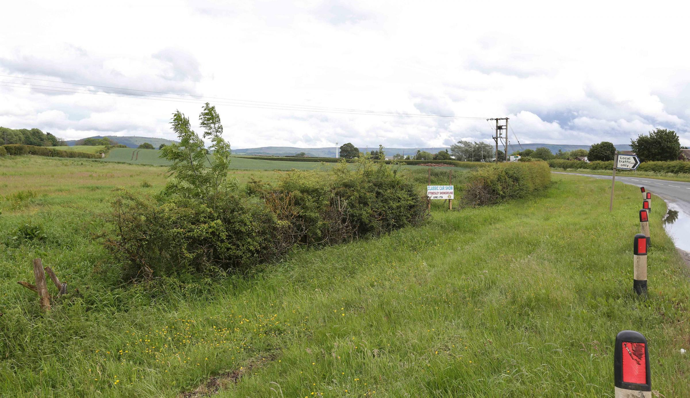 The land north of Stokesley where Gladman were hoping to develop homes