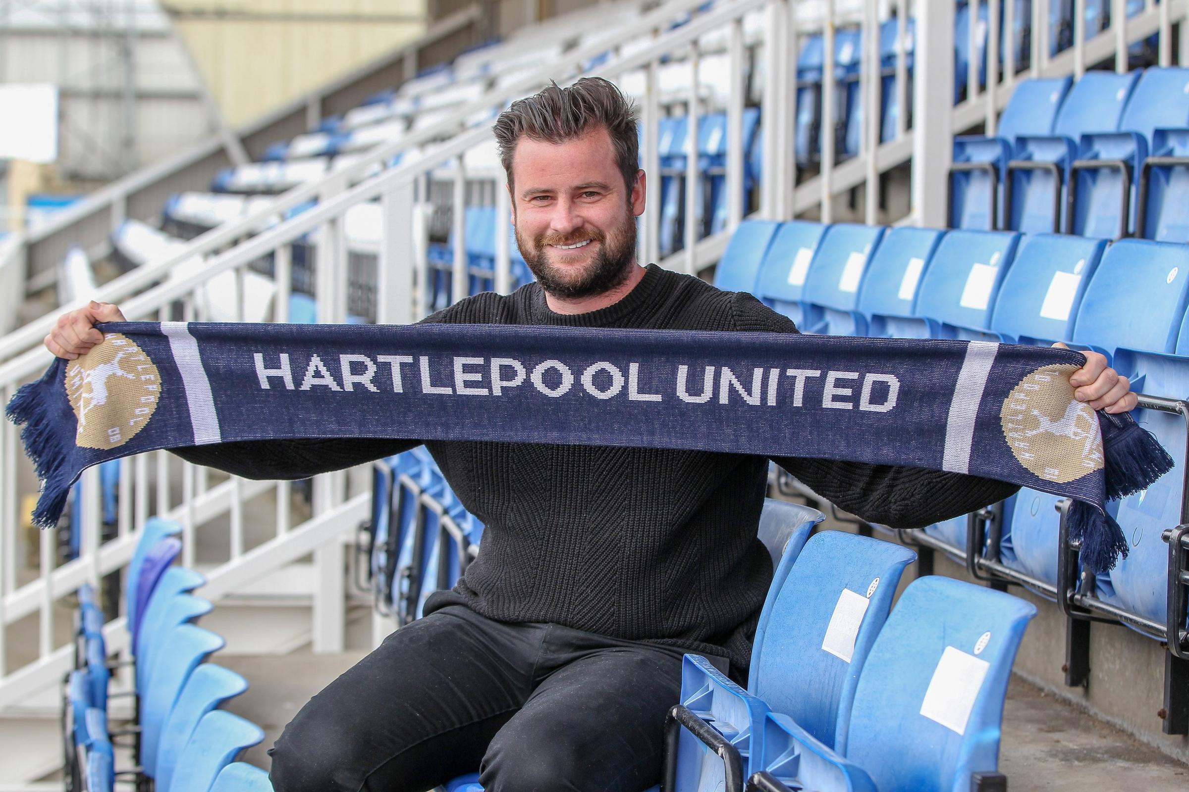 Hartlepool United boss Matthew Bates