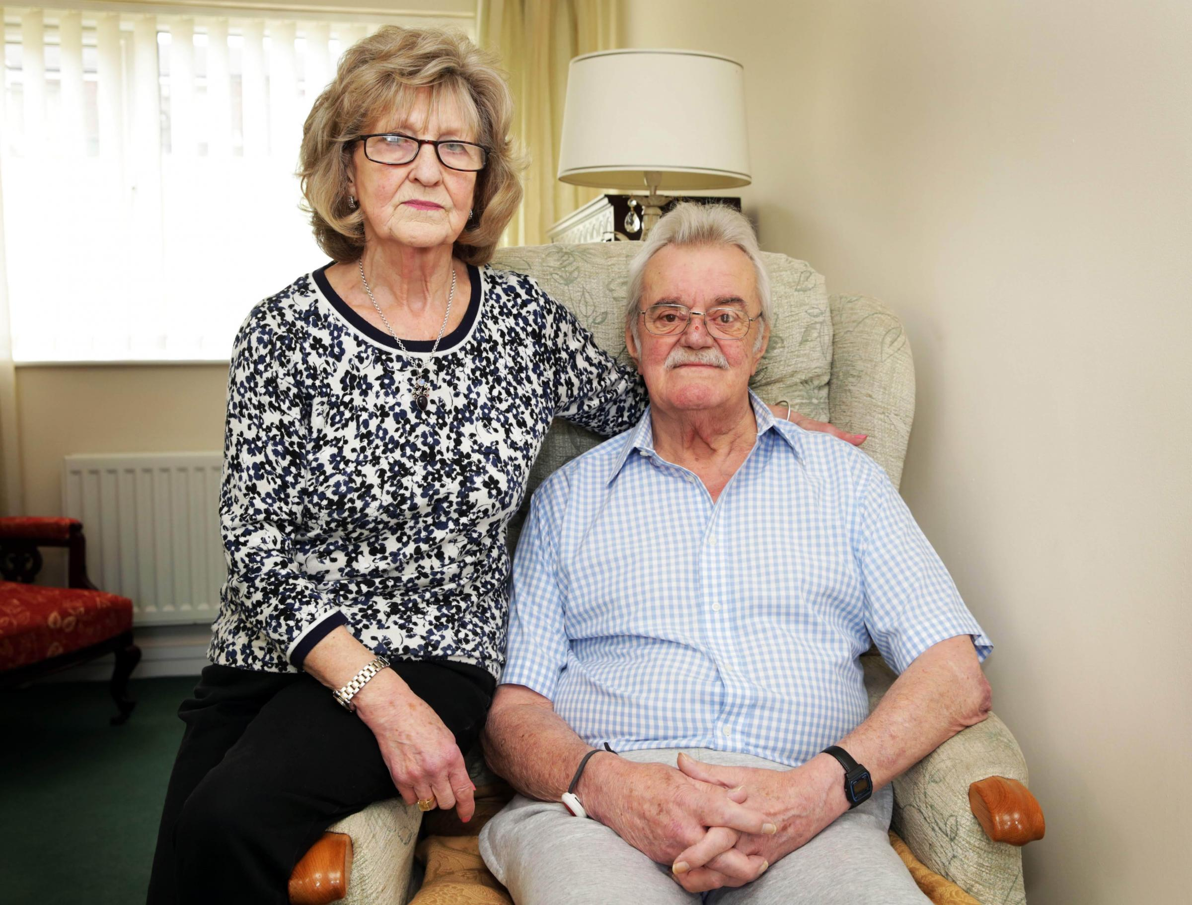 FRAUD: Veteran Eric Dunnill and his wife Biddie have been fully reimbursed after fraudsters stole £10,000 from their account Picture: SARAH CALDECOTT.
