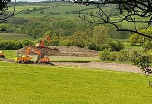 CONTROVERSIAL: Diggers on the Bradley site. Picture: Campaign to Protect Pont Valley