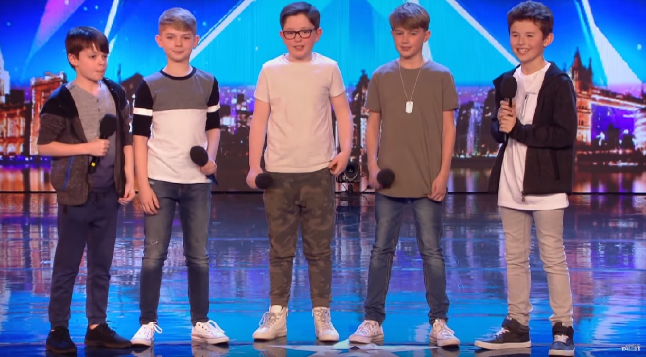 SUCCESS: Made Up North, including Max Ferguson from Darlington, second from the right, who were successful in their Britain's Got Talent audition