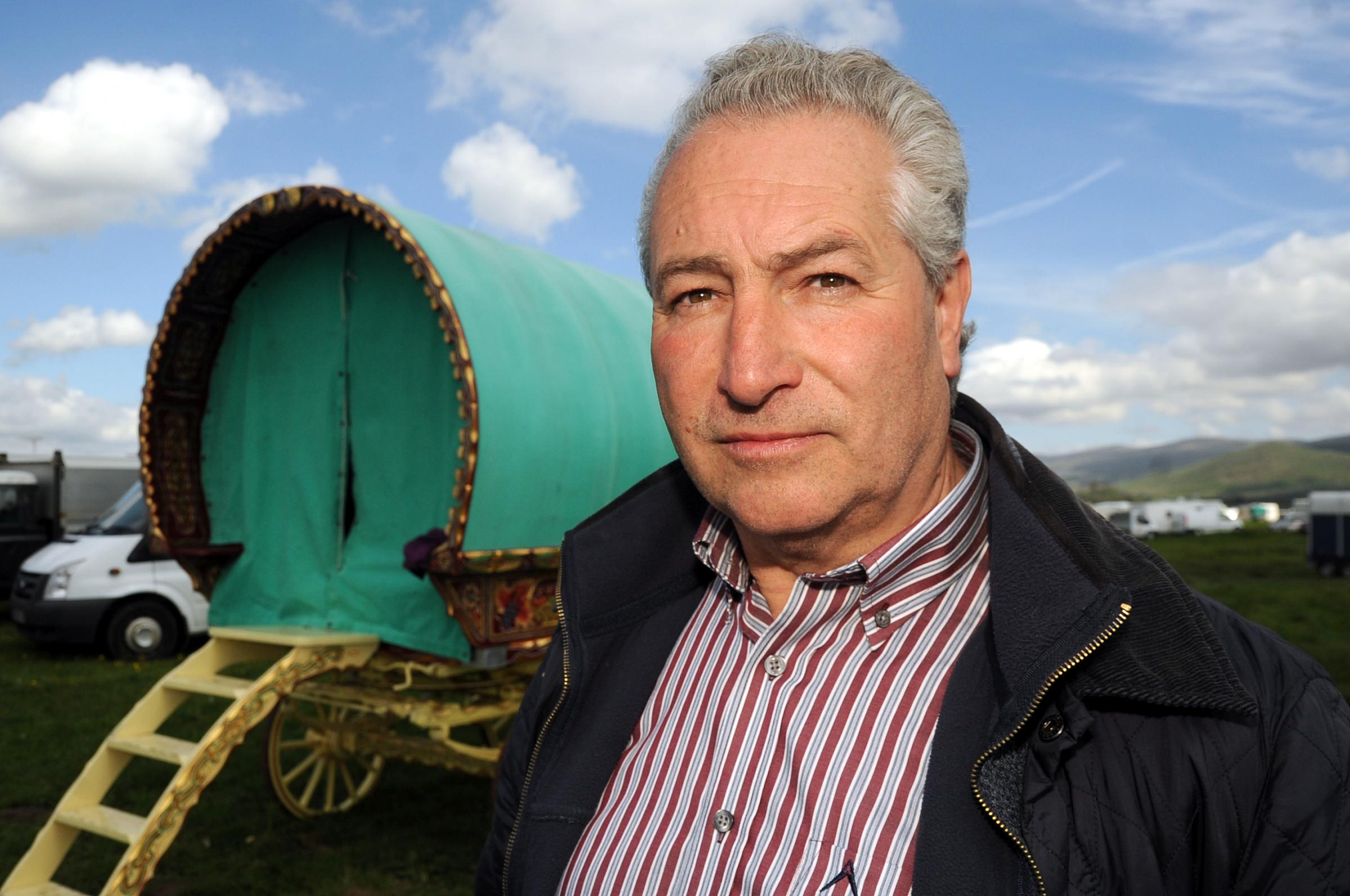 PREPARATIONS: Gypsy and organiser Billy Welch is encouraging Gypsies and Travellers not to arrive at the fair too early