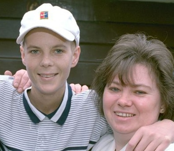 MEMORY: Chris Lucas, who died in 2000, is pictured with his mum