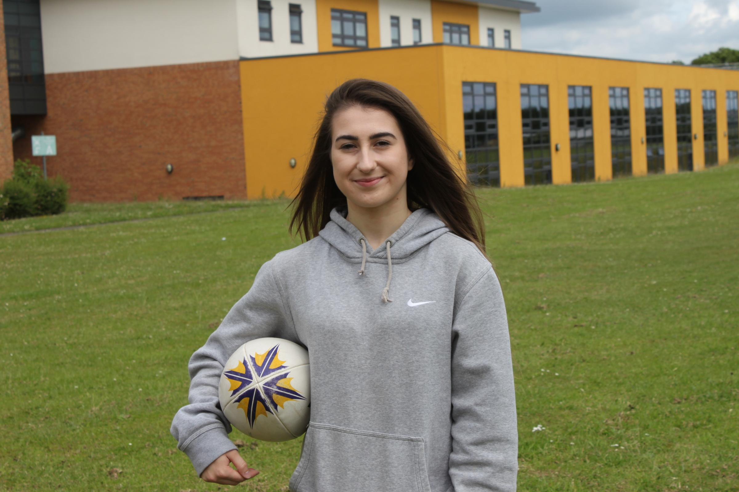 DREAM: Chloe Allan, 18, will follow her football dreams to America Picture: CHRIS JENNINGS