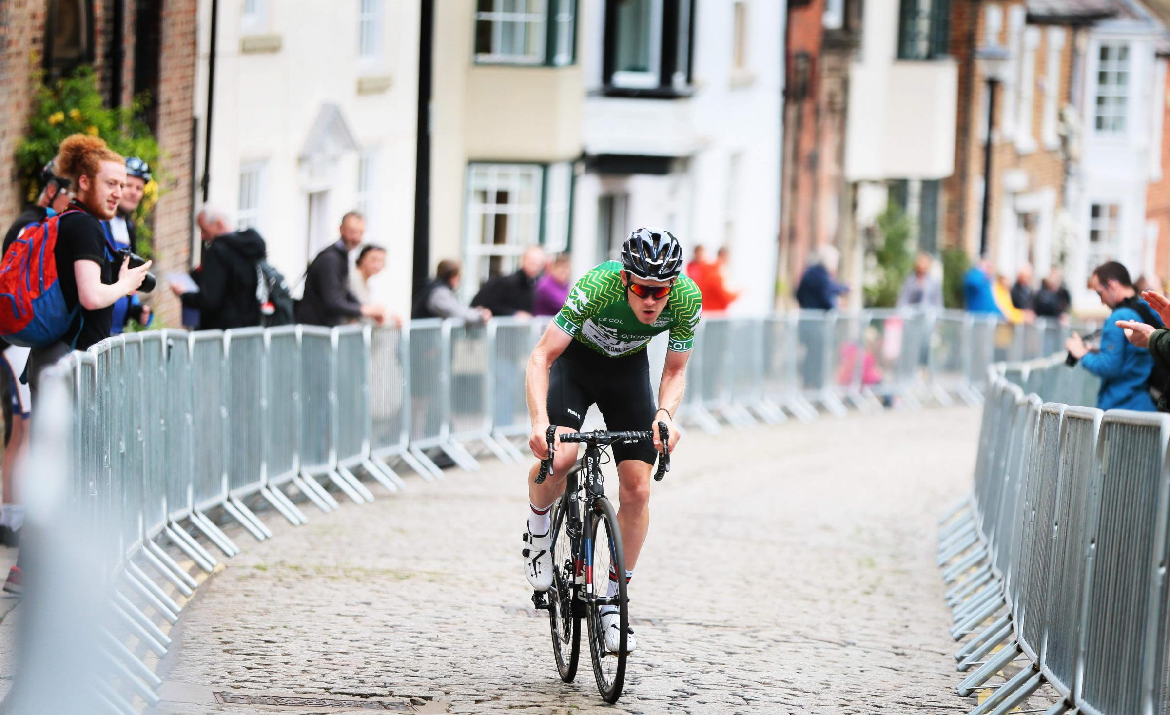 RACE: OVO Energy Tour Series returns to Durham  pictureriders in the hill climb race Picture: SARAH CALDECOTT
