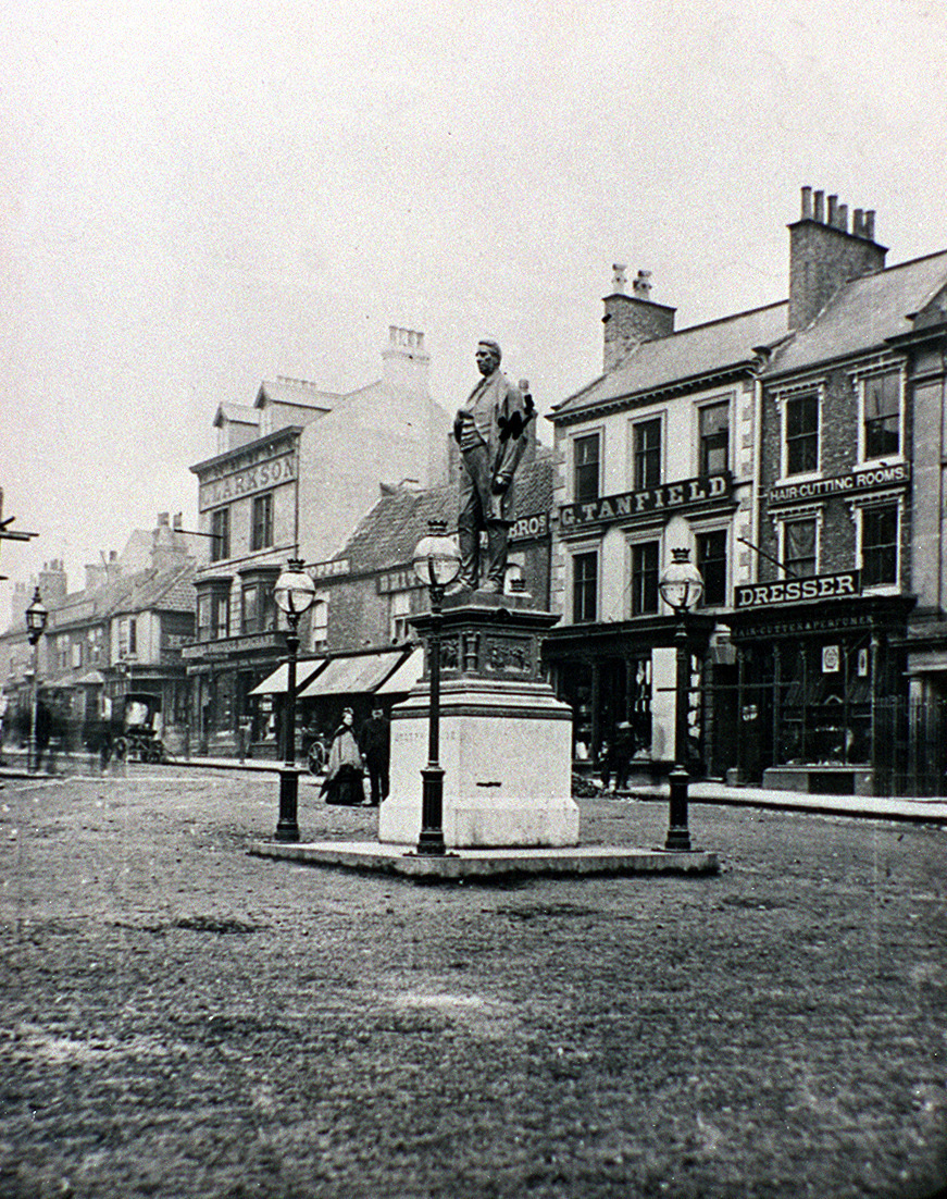FIRST STORE: Prospect Place, Darlington, in about 1876. The first M&S, which opened in 1911, was in the building occupied by G Tanfield – roughly where a travel agent's is today