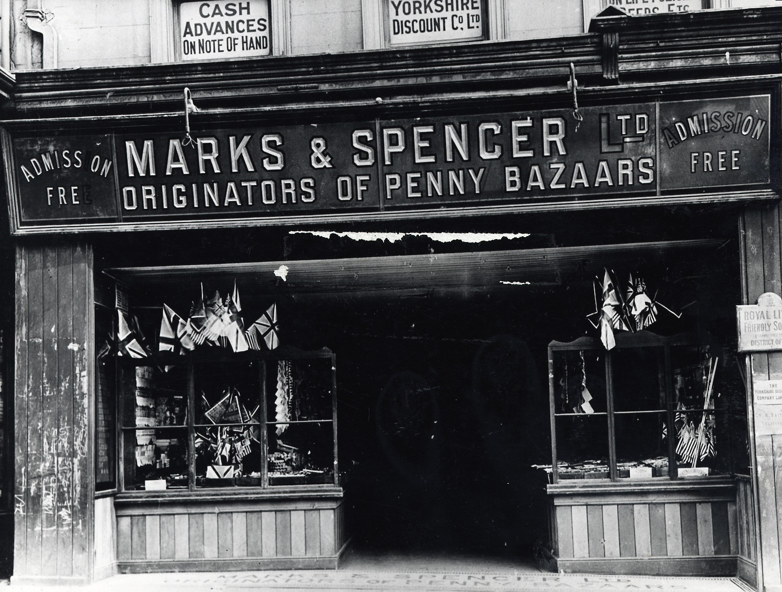 FIRST SHOP: Marks & Spencer in Prospect Place, Darlington, which opened in 1911. The penny bazaar looks in poor condition, so perhaps this picture was taken after M&S had vacated the premises in 1922