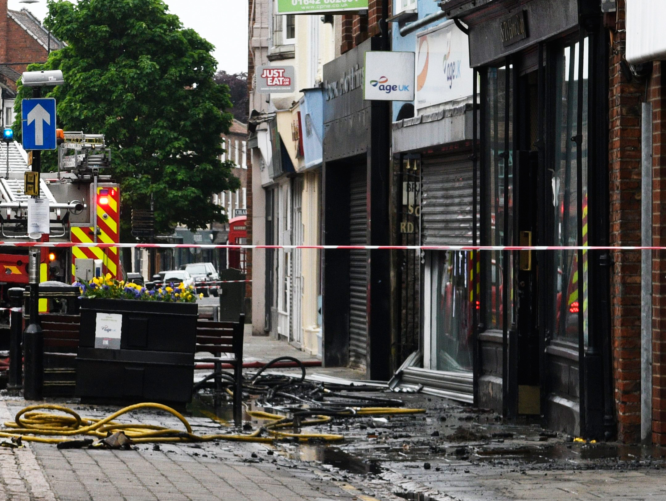 The aftermath of the fire at the former St T's Home Shop, on Skinnergate, in Darlington. Picture: Michael Atkinson