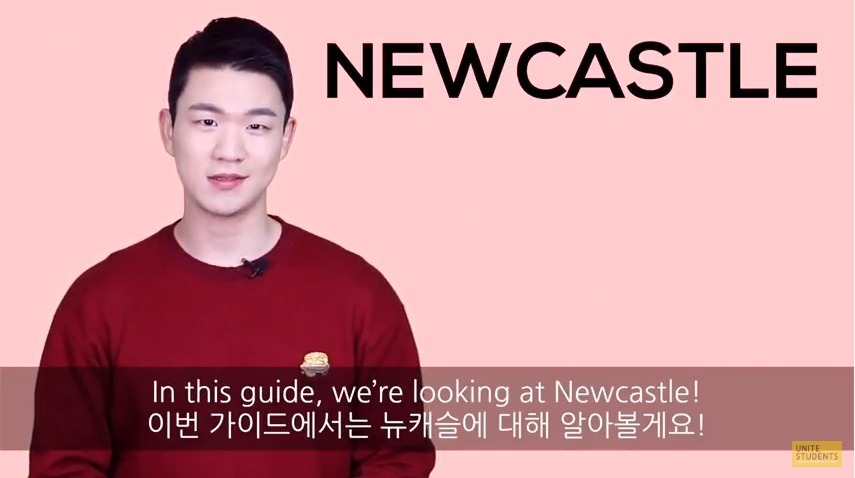 ALREET: YouTube star Korean Billy has put together a guide to help students settle into Newcastle