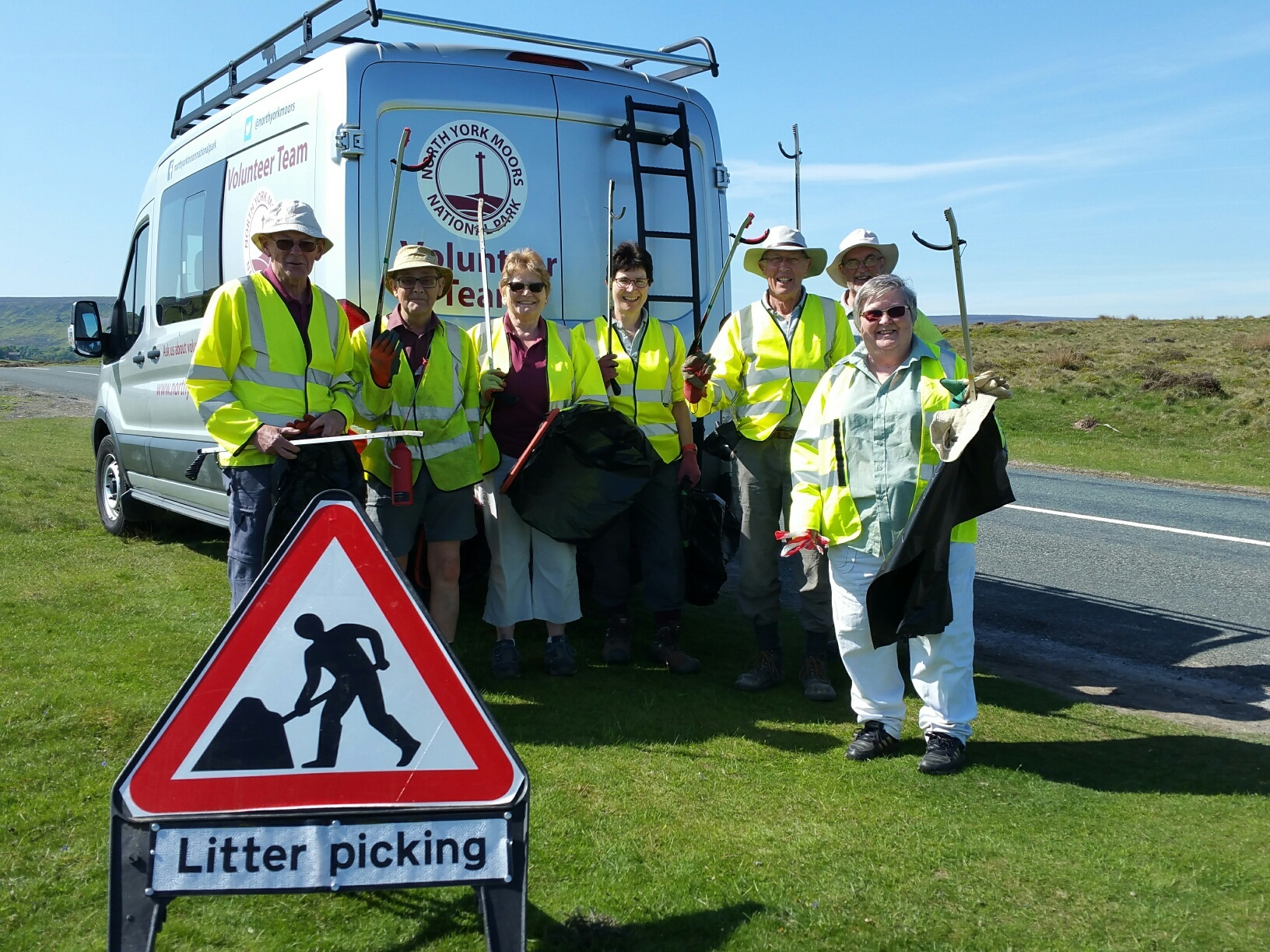 Volunteers are routinely collecting up to 40 bin bags full of rubbish at North York Moors beauty spots