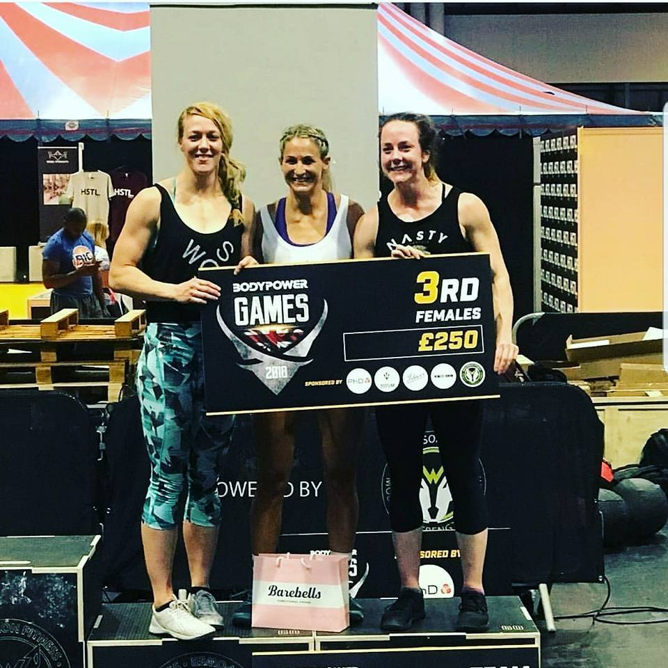 STRENGTH: Vicki Finn Smith, Rhian Pearson and Hannah Gale