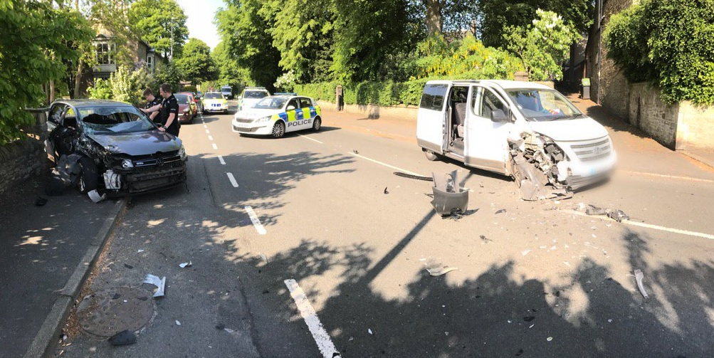 CRASH: Police have appealed for witnesses to the crash in Etherley Road, Bishop Auckland. Picture: DURHAM RPU