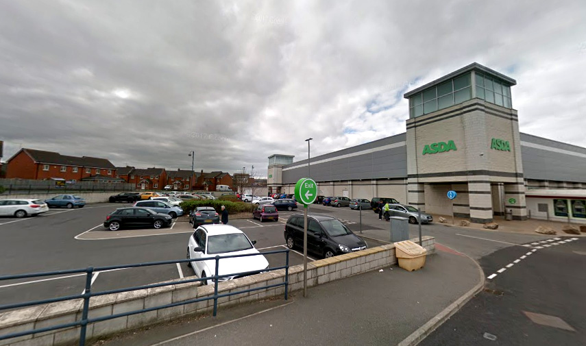 Ian Watkins harassed the woman at the car park at the Asda store in Seaham. Picture: Google