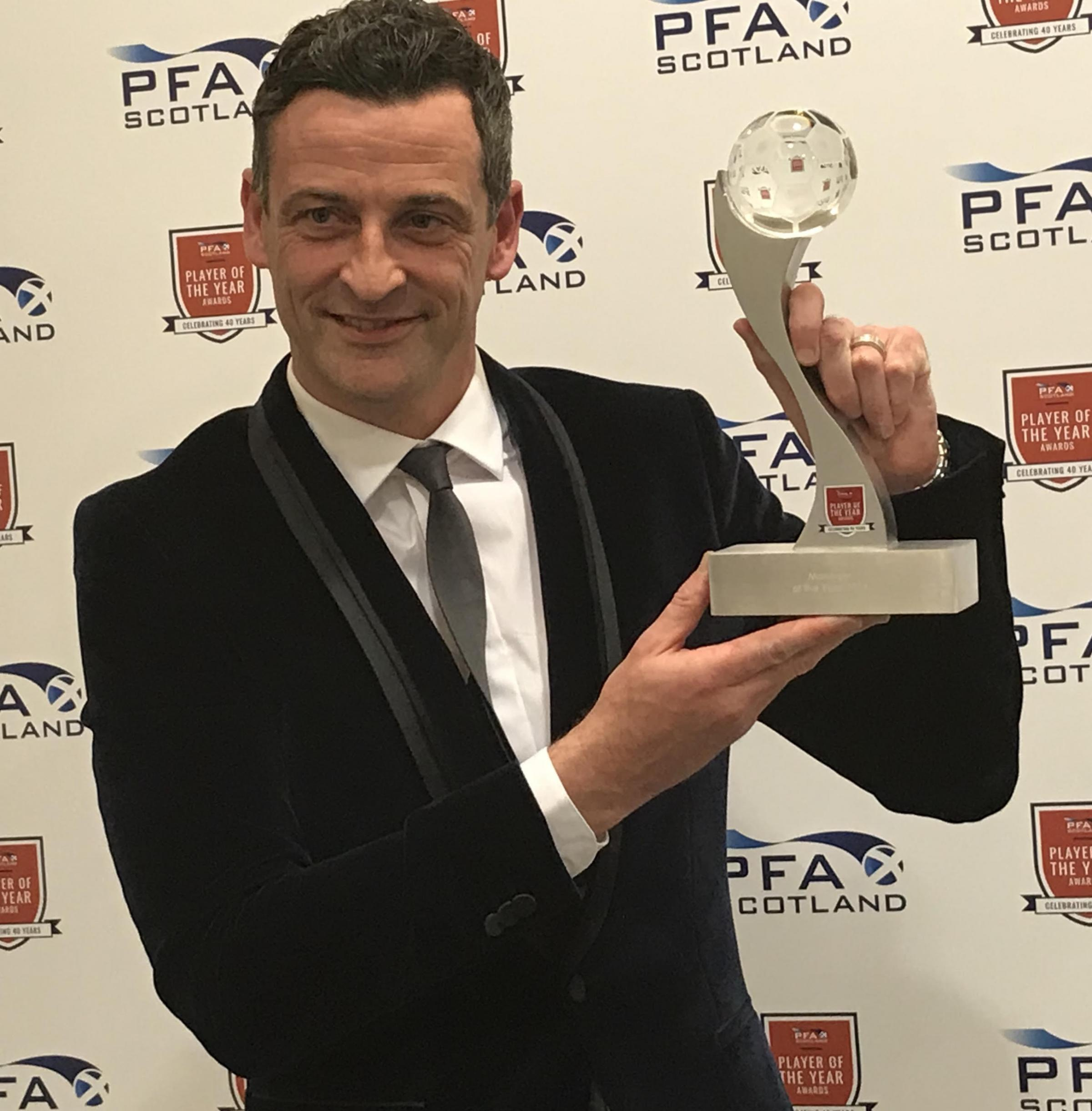 AWARD WINNER: New Sunderland boss Jack Ross won the PFA Scotland Manager of the Year award thanks to his achievements with St Mirren