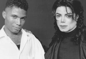 DOUBLE THRILLER: Adrian Grant with Michael Jackson
