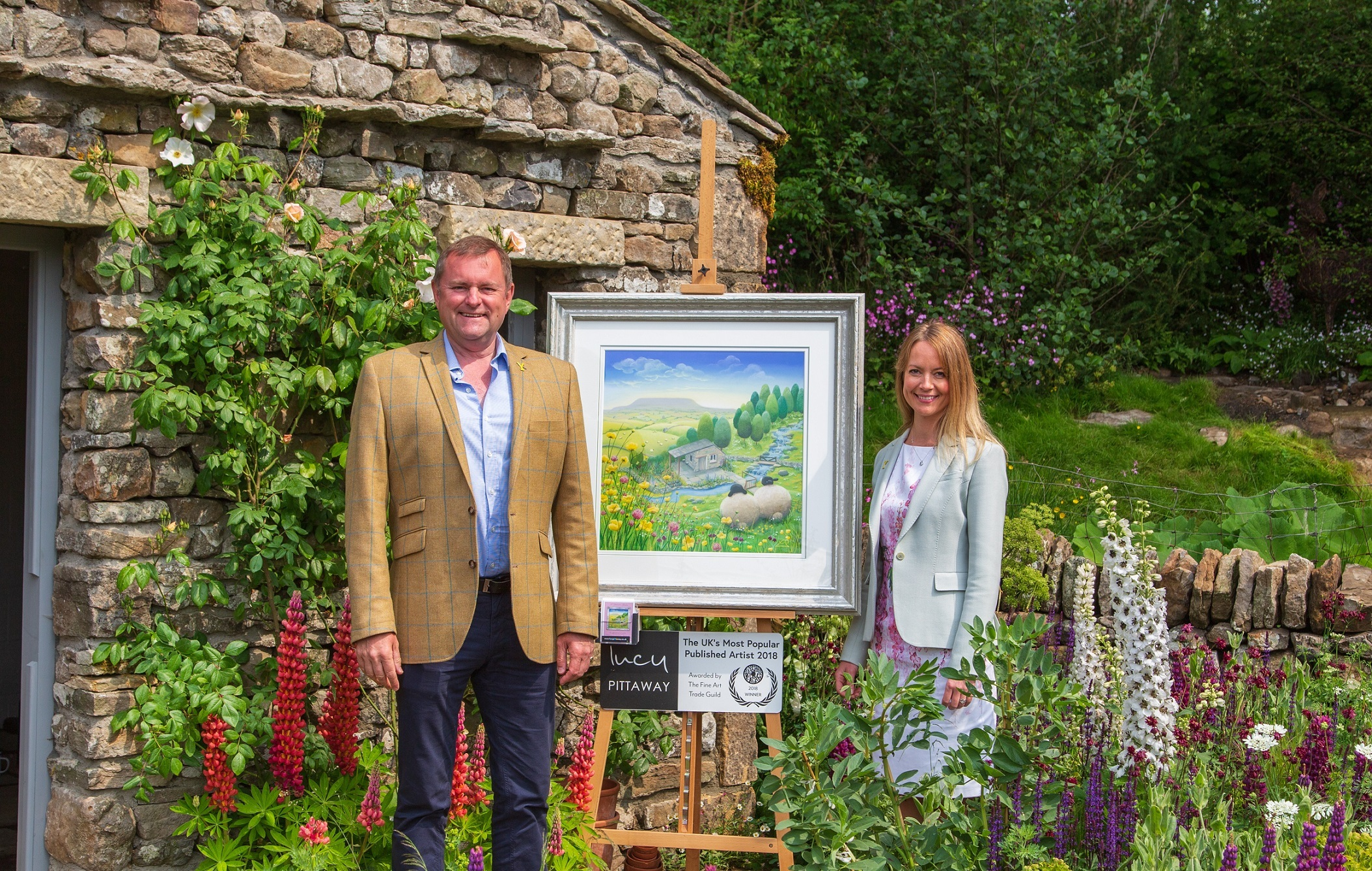 GARDEN: Lucy Pittaway with Sir Gary Verity. Picture: Matthew Bruce