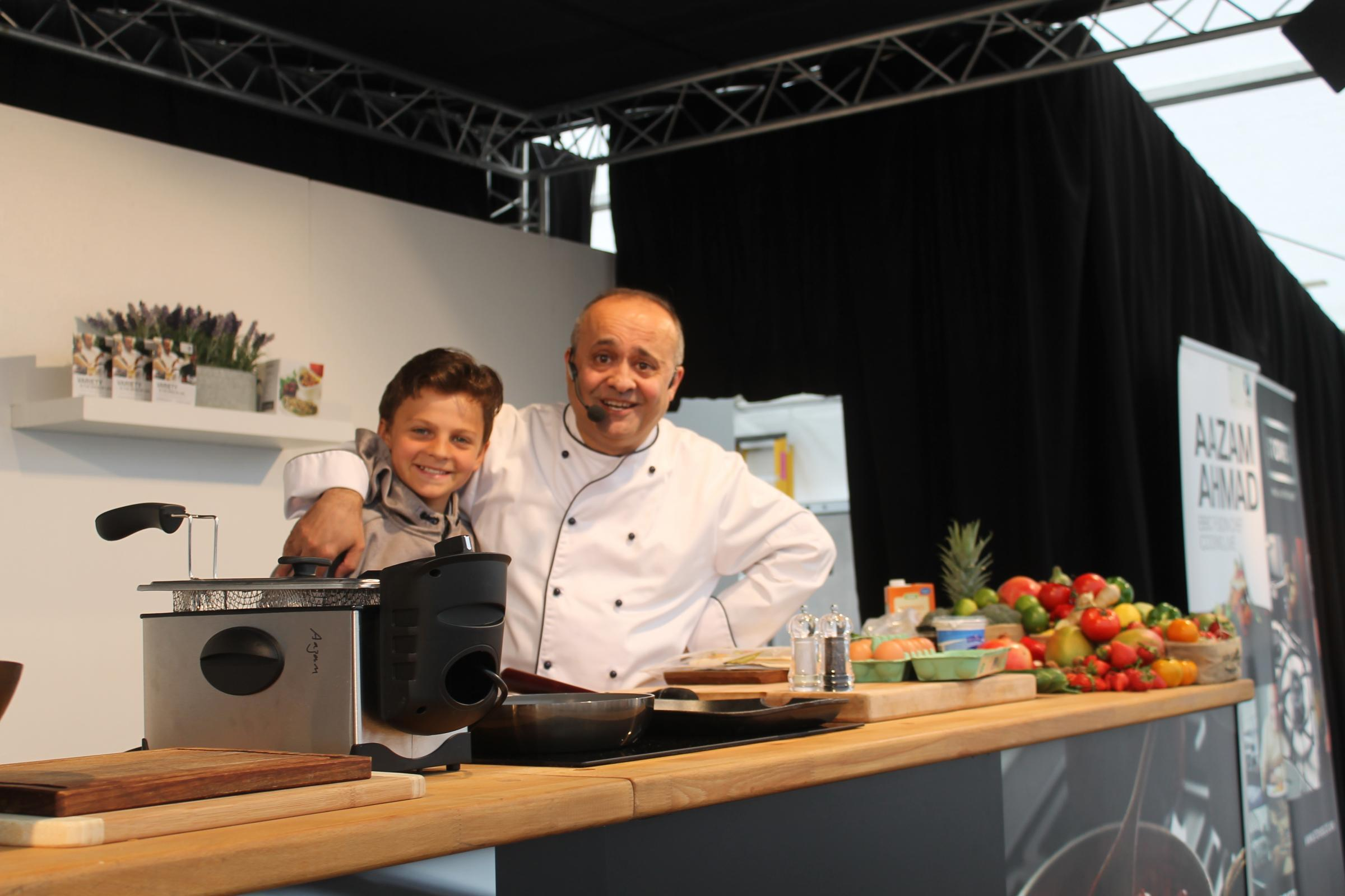 FESTIVAL: A demonstration to schoolchildren by BBC Fusion Chef Aazam Ahmad Picture: PETER BARRON