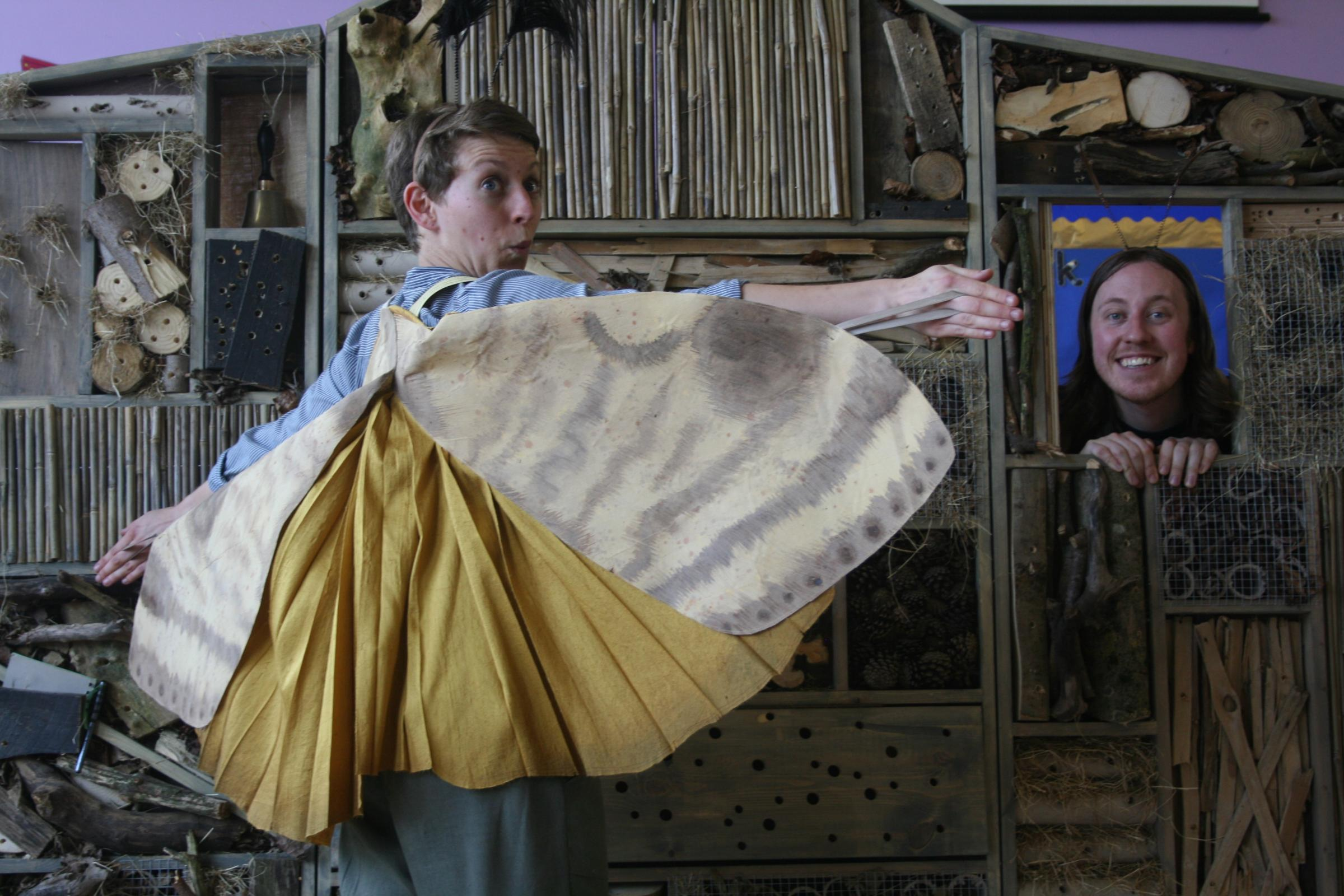 INVERTEBRATES: Actors from the Cap-a-Pie Theatre Company performing Six Legs, a lively and engaging play which brings to life the secret stories of insects