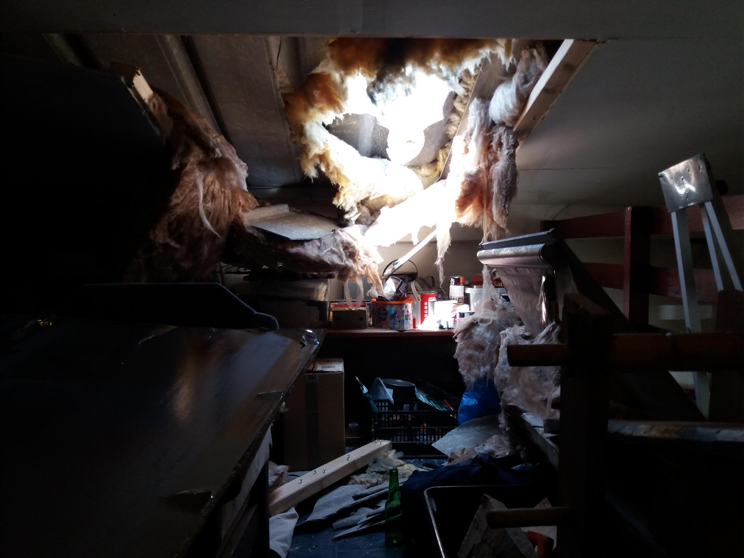HEARTLESS: Thieves smashed through the roof at Just The Job, Richmond