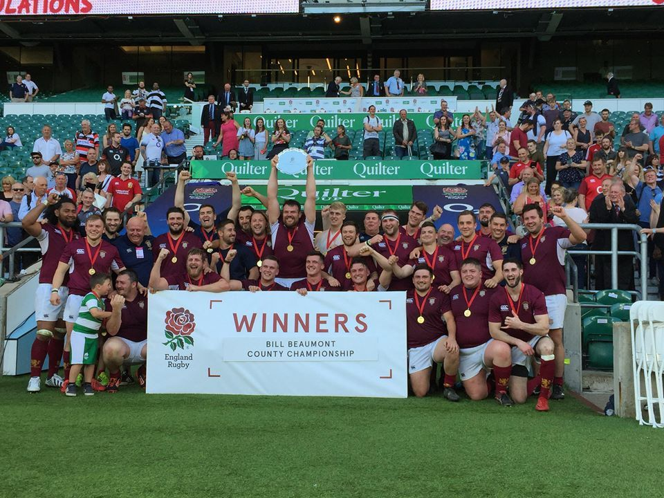 Durham lift the Bill Beaumont Trophy at Twickenham