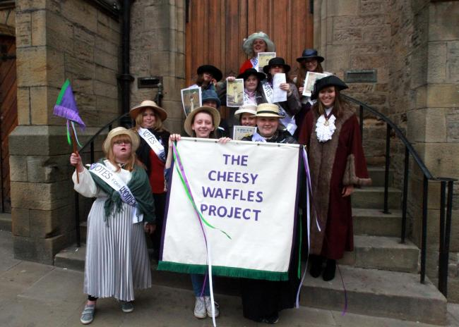 HISTORY: The Cheesy Waffles Project had a Suffragette march through Durham city centre as part of their project looking at life during the First World War