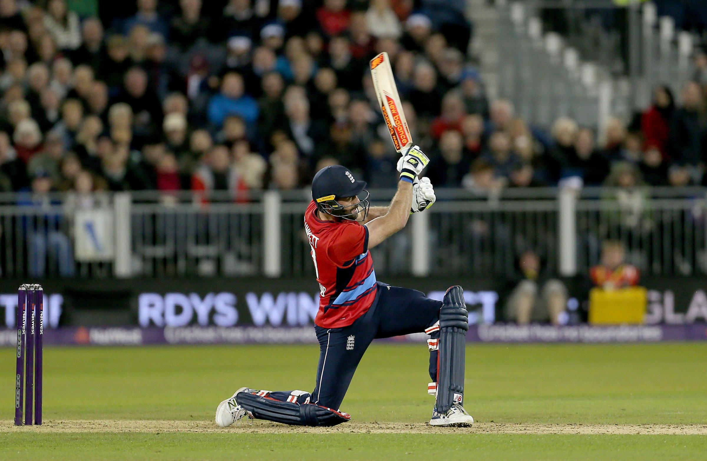 CRICKET: England are taking on Australia at the Emirates Riverside in Chester-le-Street on Thursday. Liam Plunkett is pictured in bat during the NatWest T20 match last September. Picture: RICHARD SELLERS