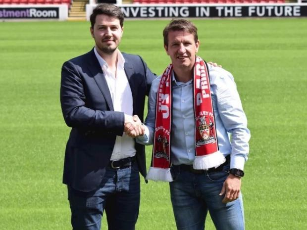The Northern Echo: Daniel Stendel, right, has taken over as Barnsley manager   Picture: Barnsley FC