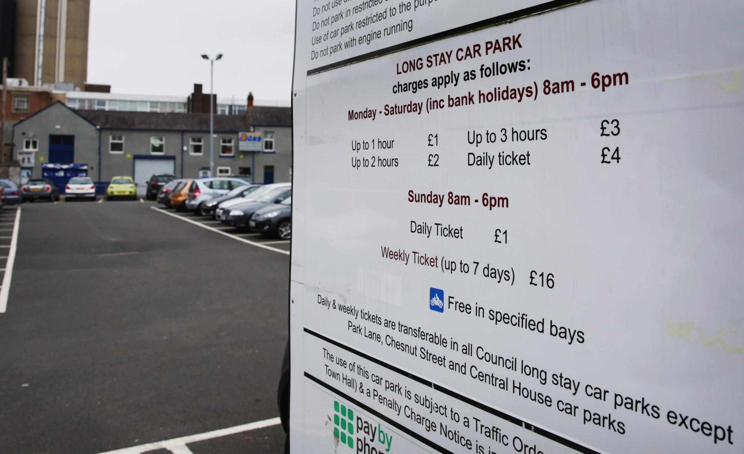 PARKING: Kendrew Street East Car Park, Darlington Picture: SARAH CALDECOTT