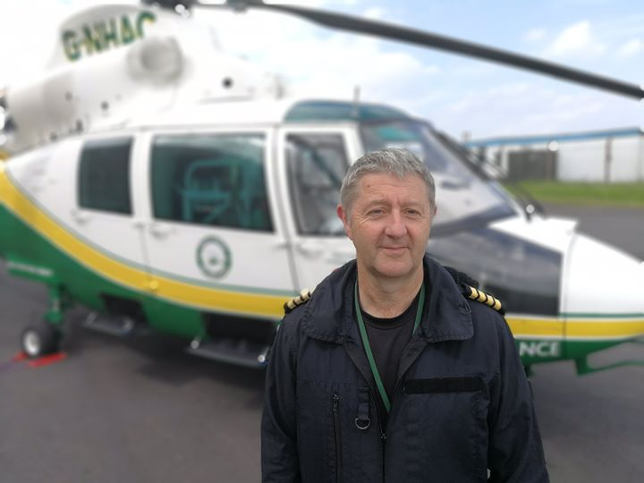 PILOT: Keith Chick, who has joined the Great North Air Ambulance Service