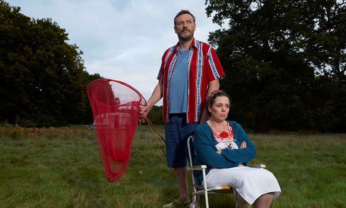 depressed father Maurice (Julian Barratt); music teacher wife Deborah (Olivia Colman),