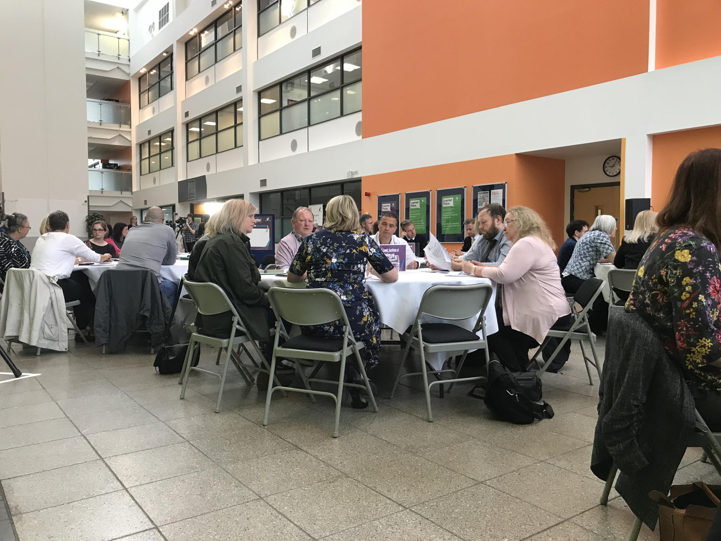 New College Durham breakfast networking event