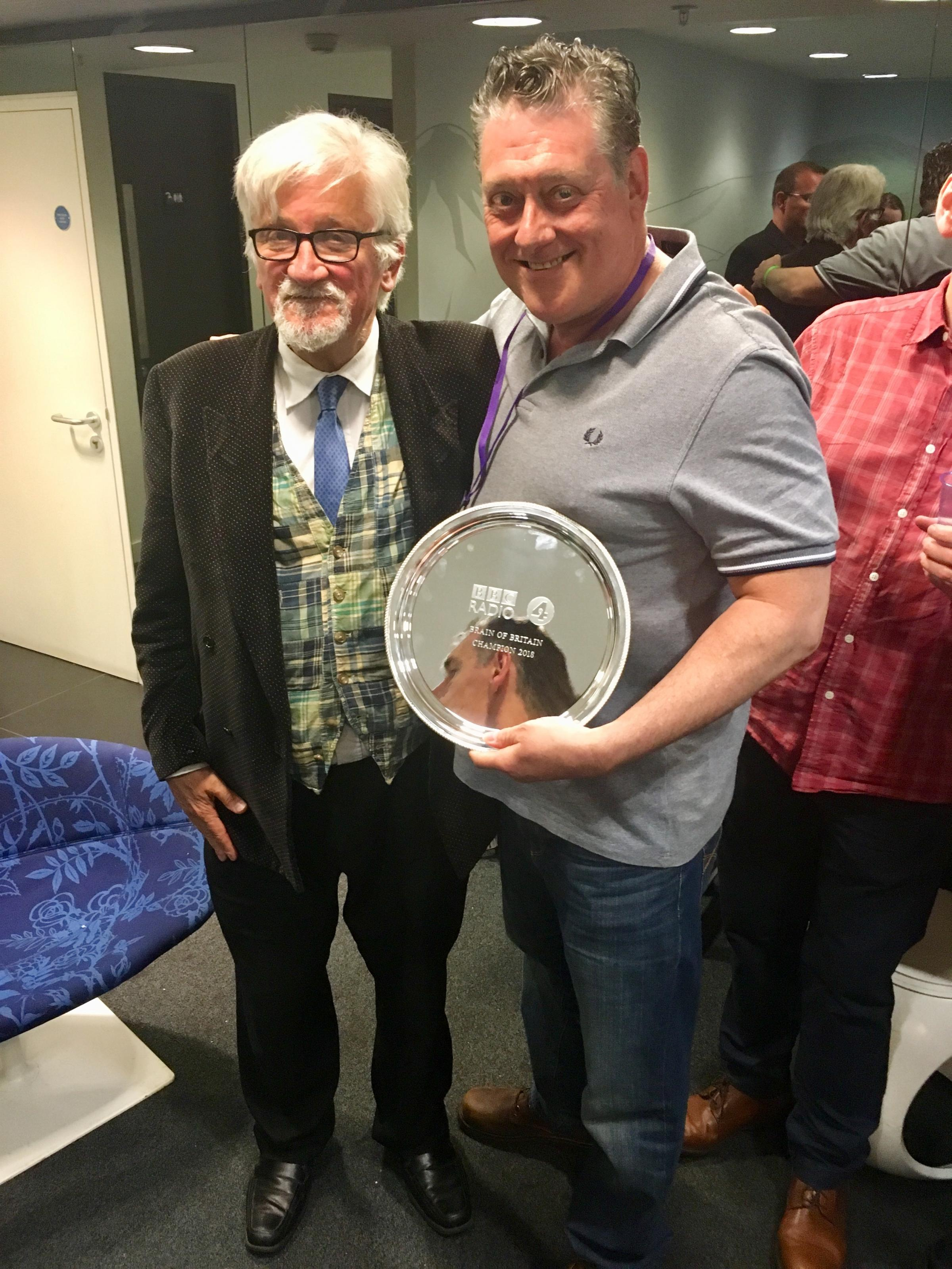 WINNER: Clive Dunning with presenter Russell Davies