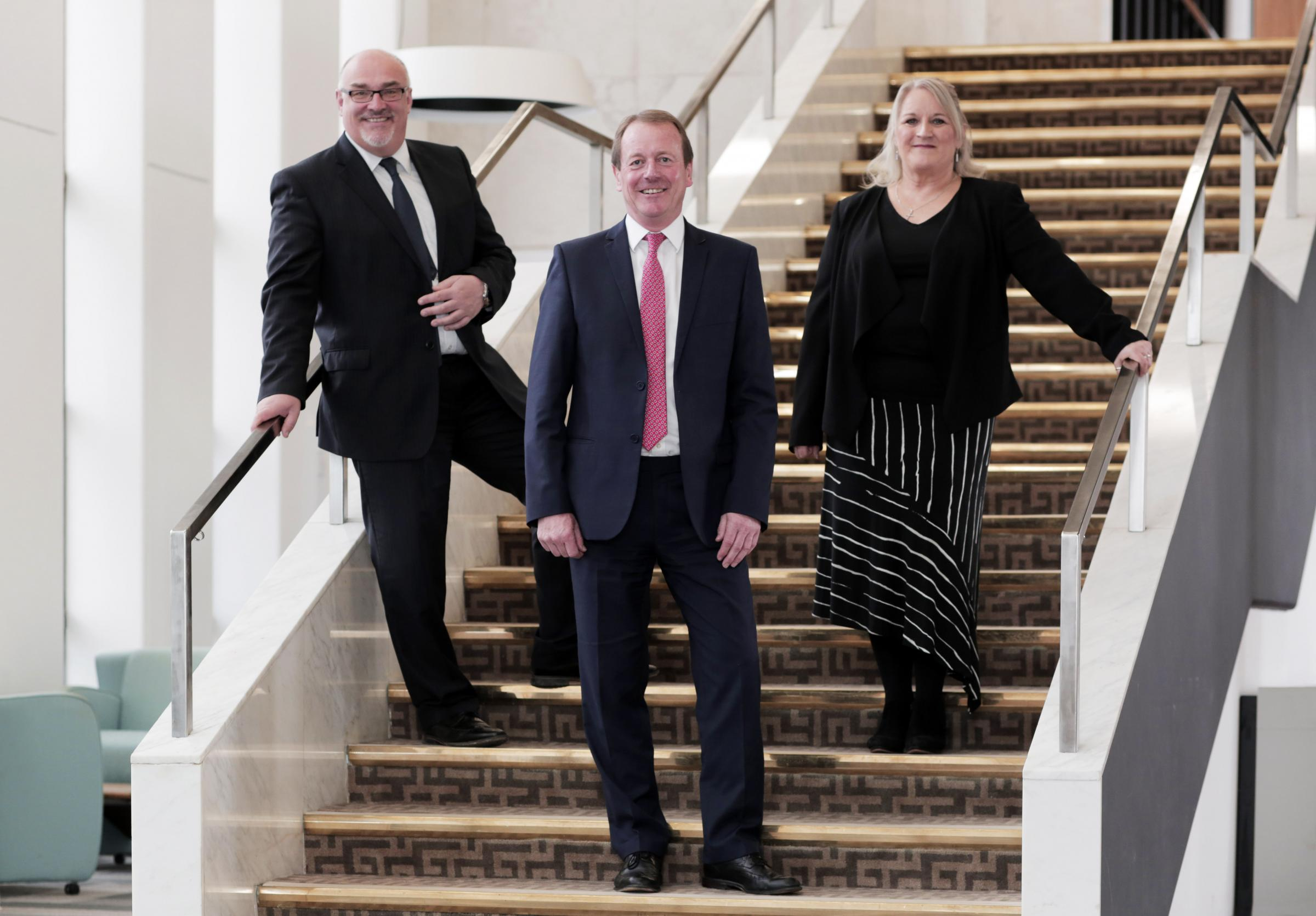 Ian Williams, Paul Wildsmith and Suzanne Joyner, Darlington Borough Council's new senior managment team. Photograph by Stuart Boulton.