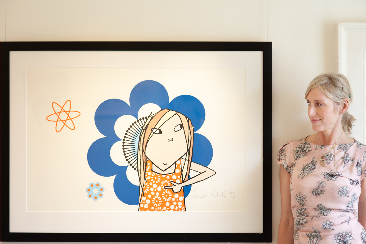 AUTHOR: Lauren Child with a Clarice Bean illustration. Picture: NATIONAL TRUST/DAVID FEARON