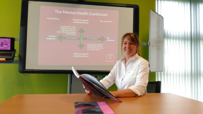 LEARN: Trainer Helen Dent delivers the first Mental Health First Aid course at The Work Place, on Aycliffe Business Park