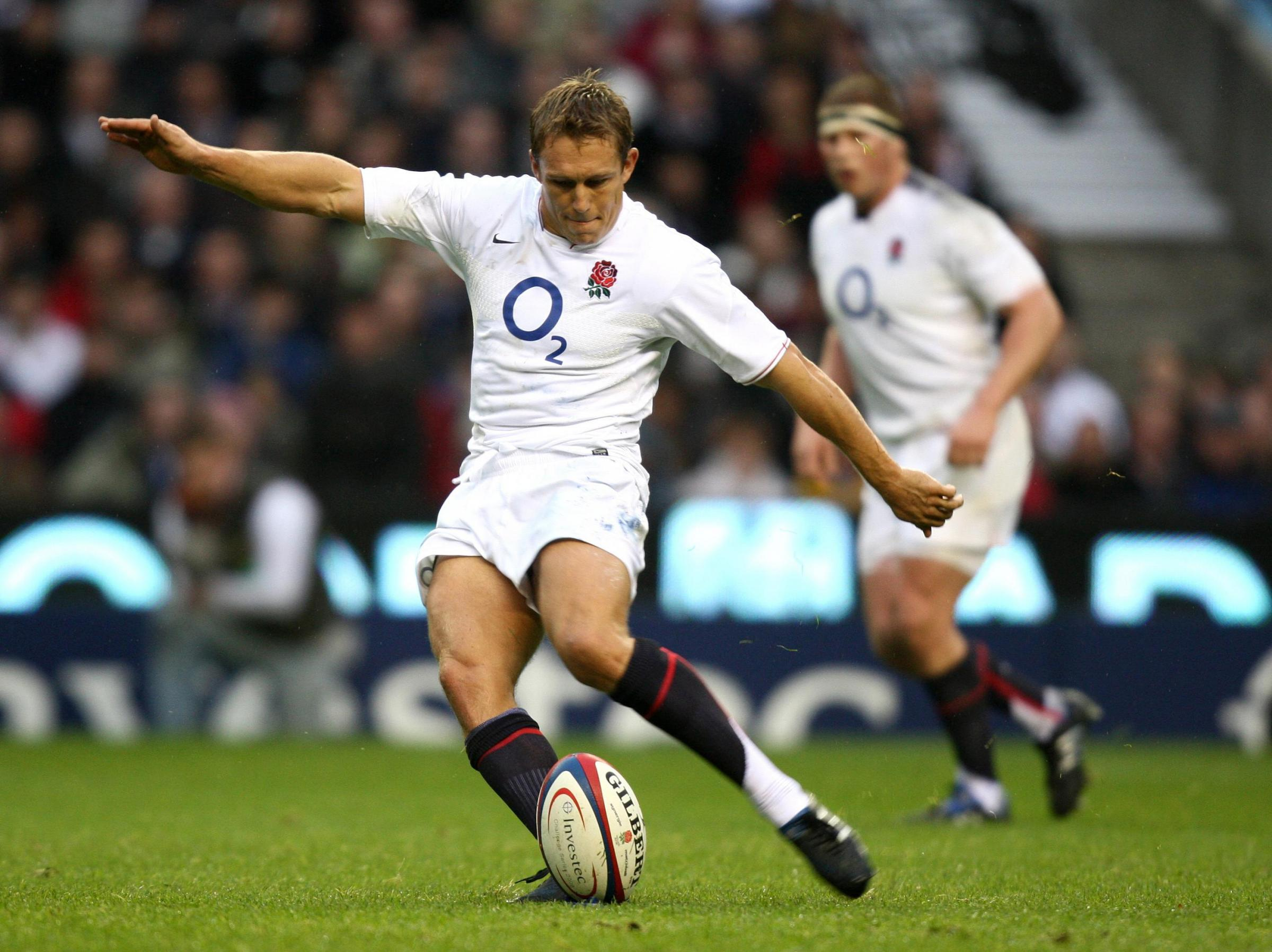 Rugby hero: England's Jonny Wilkinson kicks a penalty during a 2009 match at Twickenham   Picture: David Davies/PA Photos